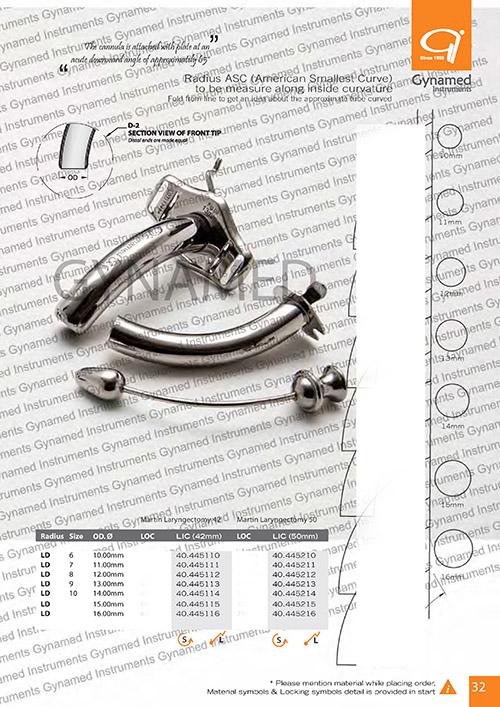 Martin Laryngectomy LIC (42mm), Radius
